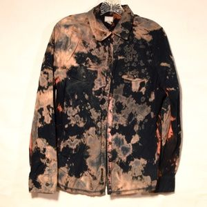 Upcycle Converse Acid Wash Shirt Tie Dye Large